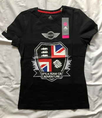 Mini London Olympics 2012 Adidas T Shirt Ladies UK Size 12 20120000259