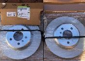 BMW F31 F31 F32 F33 F34 F36  Rear Brake Discs Light Blue 34206797607